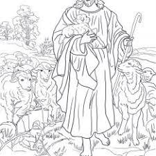 Jesus The Good Shepherd Coloring Sheets