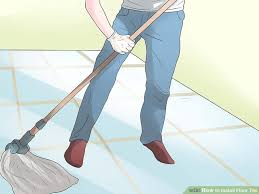 how to install floor tile with pictures wikihow