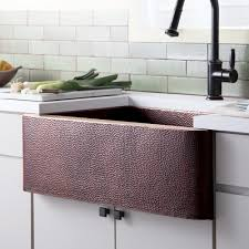 farmhouse 33 copper apront front kitchen sink native trails