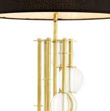 casa padrino luxus stehleuchte gold schwarz ø 48 x h 176 cm designer le mit kristallglas luxus wohnzimmer le