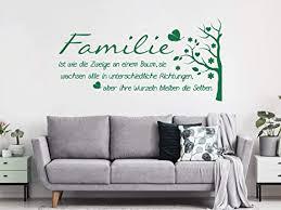 familie ist wie ein baum bild schild wandtattoo