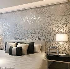 Popular 3D Design Silver Bedroom Wallpaper Modern Style DecorGenius