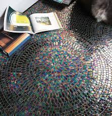 indoor mosaic tile floor glass geometric pattern neoglass