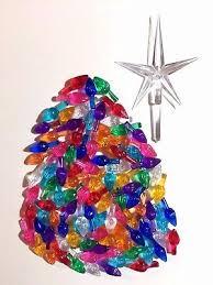 Clear Bulbs For Ceramic Christmas Tree by 50 Medium Twist Bulbs Large Star Clear Vintage Ceramic Christmas