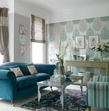Living Room Brilliant Grey And Blue Green