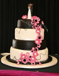 Image Of Wedding Cakes Black And Purple