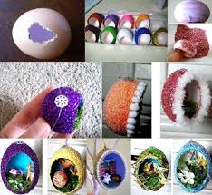 DIY Easter Home Craft Creative Egg Shell Carvings