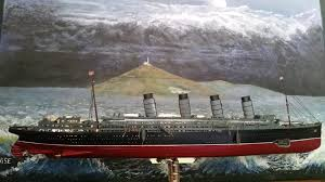Rms Lusitania Model Sinking by September 2017 Novelist Leonard Carpenter