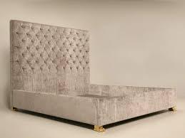 Gray Velvet King Headboard by Bed Ideas Stunning Gray Upholstered Bed King Size Upholstered