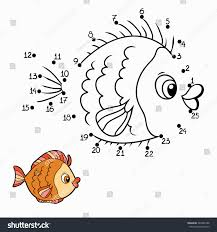 Numbers Game Fish Stock Vector 244586188
