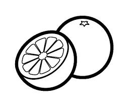 600x470 Orange Slice Clipart Black And White