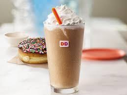 Vanilla Cake Batter And Frozen Dunkin Coffee