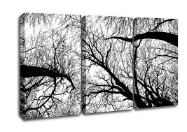 Forest 3 Panel Pecan Grove Black And White Canvas Art