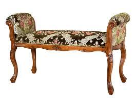 polsterbank mit armlehne klassisch aus buchenholz sitzbank gepolstert für schlafzimmer flur oder wohnzimmer möbel im stil aus italien montiert