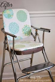 Serenity Now: Vintage Stainless Steel High Chair Makeover
