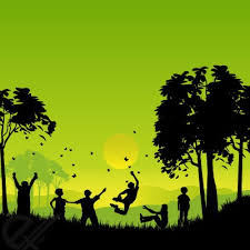 Free Silhouettes Of Children Playing Outside PSD Files Vectors Graphics