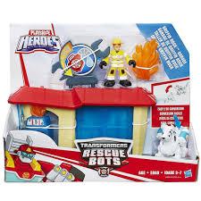 Playskool Heroes Transformers Rescue Bots Griffin Rock Garage ...