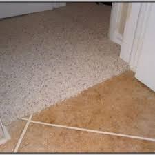 transition carpet to tile concrete floor tiles home decorating