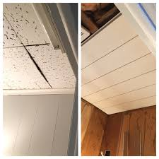 Staple Up Ceiling Tiles Armstrong by Before And After U2013 Cottage Prep
