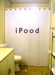 iPood Shower Curtain funny toilet humor bathroom decor