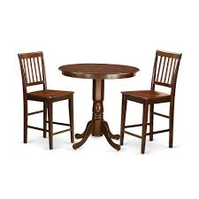 3 Pc Dining Counter Height Set - High Top Table And 2 Dining Chairs. By  East West Furniture Kitchen Design Counter Height Ding Room Table Tall High Hightop Table With 4 Leather Chairs Top Hanover Monaco 7piece Alinum Outdoor Set Round Tiletop And Contoured Sling Swivel Chairs High Kitchen Set Replacement Scenic Top Wning Amazing For Sets Marble Square And Glass Small Pub Style Island Home Design Ideas Black Cocktail Low Tables Astonishing Rooms Modern Wood Dark 2