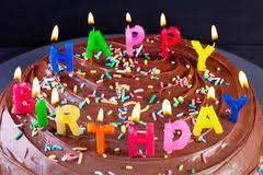 Happy Birthday Cake Candles Royalty Free Stock