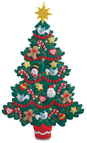 Merry And Bright Christmas Tree Bucilla Wall Hanging Kit