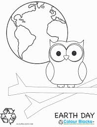 Earth Day Coloring Page Friendly
