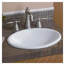 Small Overmount Bathroom Sink by Mini Oval 17 Inch Drop In Basin Sink