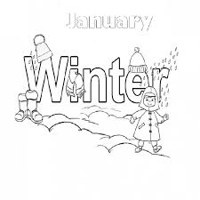 Color Pages For January Printable Coloring Gt