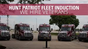 100 Patriot Trucking Hunt Transportation Fleet Induction Ceremony YouTube
