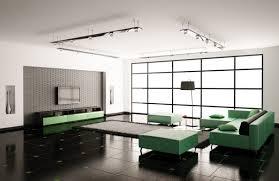 wohnzimmer innenausstattung 3d render modern haus stock