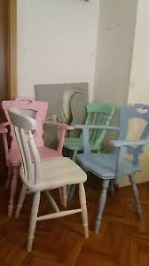 4 bunte stühle holzstühle stuhl set weiss blau türkis rosa