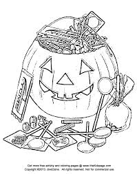 Halloween Candy Bowl Coloring Page