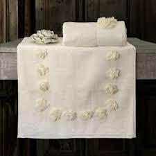 badteppich rutschfest mit stoffblumen badematte