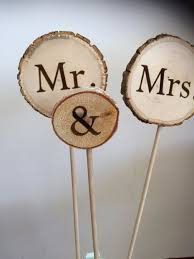 DIY Wood Wedding Cake Toppers