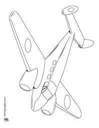 Twin Engined Plane Coloring Page