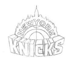 Knicks New York Nba Logo Free Coloring Pages Pictures