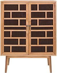 mobili buffetschrank in braun schrank für wohnzimmer 2 türen aus holz braun modernes design maße 120 x 90 x 45 cm hxlxb re4805