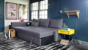 an ikea friheten sofa comes to live in our basement