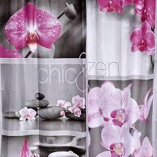 Evideco Chic And Zen Peva Bath Printed Shower Curtain Multicolored