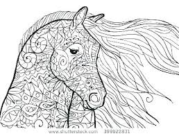 Horse Coloring Pictures Racing Pages Realistic