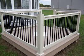 Black With White Vinyl Deck Railing See Plenty Deck Railing Ideas ... Best 25 Deck Railings Ideas On Pinterest Outdoor Stairs 7 Best Images Cable Railing Decking And Fiberon Com Railing Gate 29 Cottage Deck Banister Cap Near The House Banquette Diy Wood Ideas Doherty Durability Of Fencing Beautiful Rail For And Indoors 126 Dock Stairs 21 Metal Rustic Title Rustic Brown Wood Decks 9