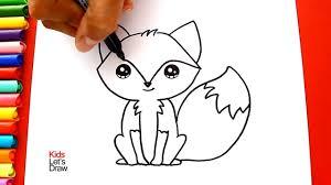 Cómo Dibujar Y Colorear Un ZORRO Kawaii Aprender A Dibujar