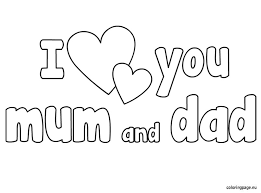 Lovely Mom And Dad Coloring Pages 19 In For Adults With