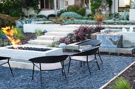 Pea Gravel Patio Images by Contemporary Landscape With Good Blue Pea Gravel Patio Area