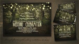 STRING LIGHTS WEDDING INVITATION Tree Path Invites