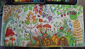 First Double Page From Enchanted Forest This Took Me Two Weeks To