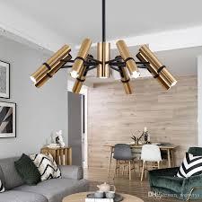 großhandel nordic le led kronleuchter beleuchtung schwarz glänzender design leuchten wohnzimmer schlafzimmer küche innendekoration heim metall