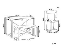 essgruppe 4 sitzer 110 x 70 cm 2 stühle und bank flixton